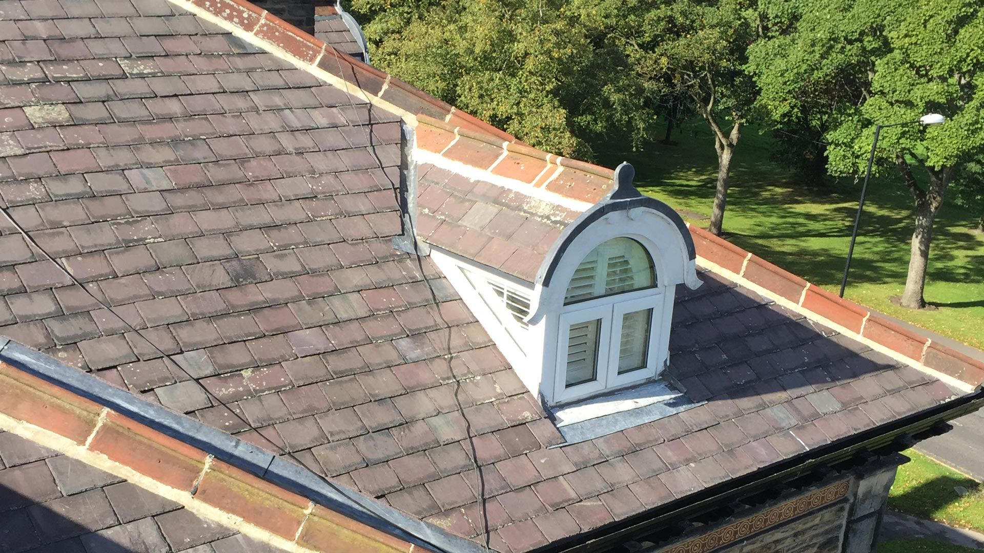Rounded roofing work is able to be carried our by our team