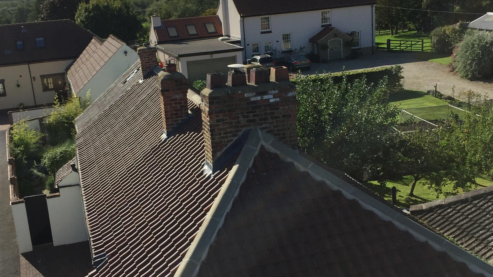 Residential roofing work carried out by our team